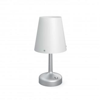 PHILIPS 71796/48/P0 | Table_Battery Philips stolové svietidlo 24,9cm prepínač 1x LED 2700K sivé, biela