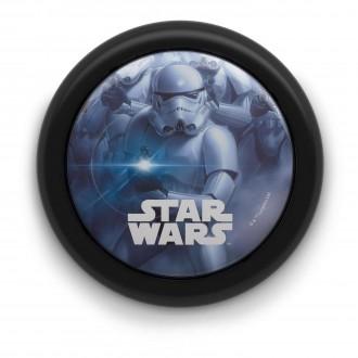 PHILIPS 71924/30/P0 | Star-Wars Philips stenové svietidlo prepínač 1x LED 5lm 2700K čierna, viacferebné