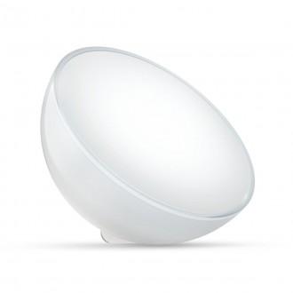 PHILIPS 76020/31/P7 | PHILIPS-hue-Ambient Philips prenosné hue Go múdre osvetlenie kruhový prepínač regulovateľná intenzita svetla, meniace farbu, nastaviteľná farebná teplota, Bluetooth 1x LED 520lm 2000 <-> 6500K biela