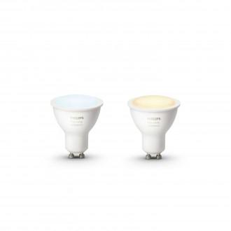 PHILIPS 8718696671184 | GU10 5,5W Philips spot LED svetelný zdroj hue múdre osvetlenie 250lm 2200 <-> 6500K regulovateľná intenzita svetla, nastaviteľná farebná teplota, 2 dielna súprava 45° CRI>80