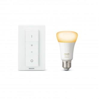PHILIPS 8718696678404 | PHILIPS-hue Philips štartovací balíček hue DIM prenosný vypínač + E27 A60 hue WA LED svetelný zdroj múdre osvetlenie normálne A19 diaľkový ovládač regulovateľná intenzita svetla, nastaviteľná farebná teplota 1x E27 806lm 2200 <-