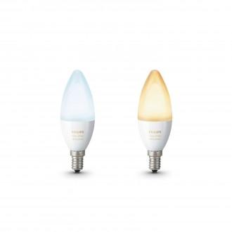 PHILIPS 8718696695265 | E14 6W Philips sviečka B39 LED svetelný zdroj hue múdre osvetlenie 470lm 2200 <-> 6500K regulovateľná intenzita svetla, nastaviteľná farebná teplota, 2 dielna súprava