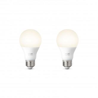 PHILIPS 8718696729113 | E27 9,5W Philips normálne A60 LED svetelný zdroj hue múdre osvetlenie 806lm 2700K regulovateľná intenzita svetla, 2 dielna súprava 180° CRI>80