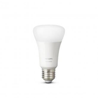 PHILIPS 8718696785270 | E27 9W -> 60W Philips normálne A60 LED svetelný zdroj hue múdre osvetlenie 806lm 2700K regulovateľná intenzita svetla, Bluetooth, 2 dielna súprava CRI>80