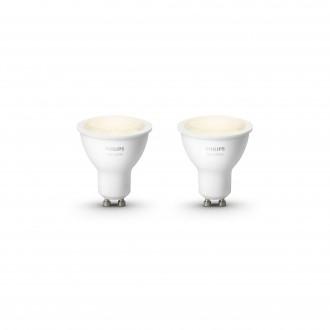 PHILIPS 8718699605537 | GU10 5,5W Philips spot LED svetelný zdroj hue múdre osvetlenie 300lm 2700K regulovateľná intenzita svetla, 2 dielna súprava 46° CRI>80