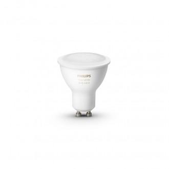 PHILIPS 8718699629250 | GU10 5,7W -> 50W Philips spot LED svetelný zdroj hue múdre osvetlenie 350lm 2200 <-> 6500K regulovateľná intenzita svetla, meniace farbu, nastaviteľná farebná teplota, Bluetooth, 2 dielna súprava CRI>80