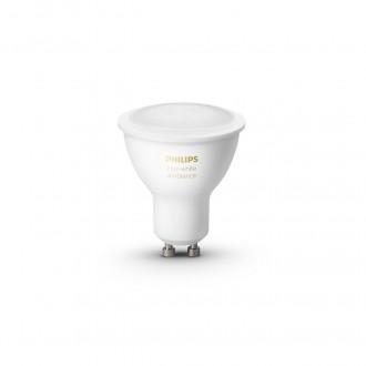 PHILIPS 8718699629298 | GU10 5,5W -> 50W Philips spot LED svetelný zdroj hue múdre osvetlenie 350lm 2200 <-> 6500K regulovateľná intenzita svetla, nastaviteľná farebná teplota, Bluetooth, 2 dielna súprava CRI>80
