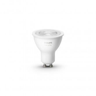 PHILIPS 8718699629311 | GU10 5,2W -> 57W Philips spot LED svetelný zdroj hue múdre osvetlenie 400lm 2700K regulovateľná intenzita svetla, Bluetooth, 2 dielna súprava CRI>80