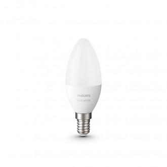 PHILIPS 8718699671273 | E14 5,5W -> 40W Philips sviečka B39 LED svetelný zdroj hue múdre osvetlenie 470lm 2700K regulovateľná intenzita svetla, Bluetooth, 2 dielna súprava CRI>80