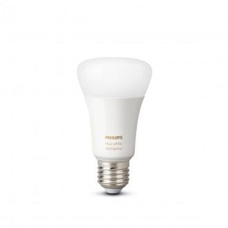 PHILIPS 8718699673369 | E27 8,5W -> 60W Philips normálne A60 LED svetelný zdroj hue múdre osvetlenie 806lm 2200 <-> 6500K regulovateľná intenzita svetla, nastaviteľná farebná teplota, Bluetooth, 2 dielna súprava CRI>80