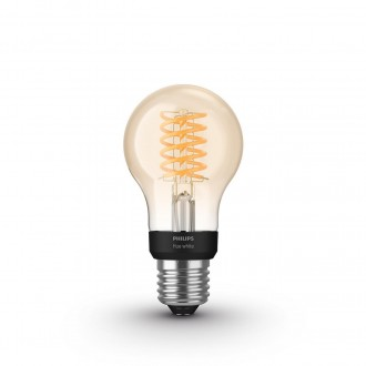 PHILIPS 8718699688820 | E27 7W -> 40W Philips normálne A60 LED svetelný zdroj hue múdre osvetlenie 550lm 2100K regulovateľná intenzita svetla, Bluetooth CRI>80