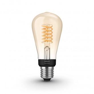 PHILIPS 8718699688868 | E27 7W -> 40W Philips Edison ST64 LED svetelný zdroj hue múdre osvetlenie 550lm 2100K regulovateľná intenzita svetla, Bluetooth CRI>80