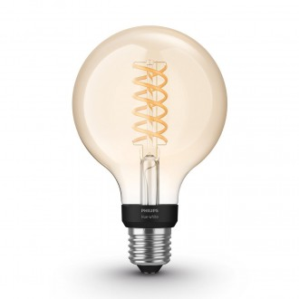 PHILIPS 8718699688882 | E27 7W -> 40W Philips veľká guľa G93 LED svetelný zdroj hue múdre osvetlenie 550lm 2100K regulovateľná intenzita svetla, Bluetooth CRI>80