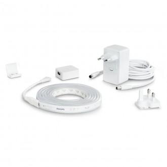 PHILIPS 8718699703424 | PHILIPS-hue-LightStrip Philips LED pásy hue múdre osvetlenie regulovateľná intenzita svetla, meniace farbu, nastaviteľná farebná teplota, Bluetooth 1x LED 1600lm 2000 <-> 6500K biela