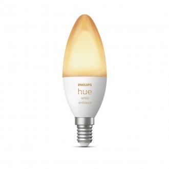 PHILIPS 8718699726294 | E14 6W Philips sviečka B39 LED svetelný zdroj hue múdre osvetlenie 470lm 2200 <-> 6500K regulovateľná intenzita svetla, Bluetooth