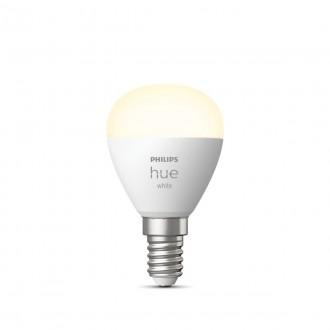 PHILIPS 8719514266889 | E14 5,5W -> 40W Philips malá guľa P45 LED svetelný zdroj hue múdre osvetlenie 470lm 2700K regulovateľná intenzita svetla, Bluetooth CRI>80