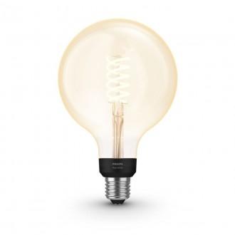 PHILIPS 8719514279131   E27 7W -> 40W Philips veľká guľa G125 LED svetelný zdroj hue múdre osvetlenie 550lm 2100K regulovateľná intenzita svetla, Bluetooth CRI>80