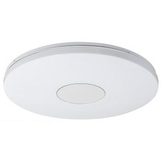 RABALUX 1428 | Nolan Rabalux stropné svietidlo kruhový diaľkový ovládač regulovateľná intenzita svetla, nastaviteľná farebná teplota, časový spínač 1x LED 3900lm 3000 <-> 6500K biela, strieborný
