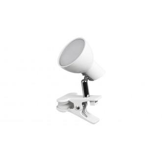 RABALUX 1477 | Noah Rabalux štipcové svietidlo prepínač na vedení otočné prvky 1x LED 360lm 3000K biela