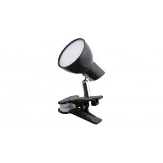 RABALUX 1478 | Noah Rabalux štipcové svietidlo prepínač na vedení otočné prvky 1x LED 360lm 3000K čierna