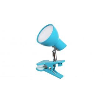RABALUX 1479 | Noah Rabalux štipcové svietidlo prepínač na vedení otočné prvky 1x LED 360lm 3000K modrá