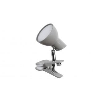 RABALUX 1480 | Noah Rabalux štipcové svietidlo prepínač na vedení otočné prvky 1x LED 360lm 3000K sivé