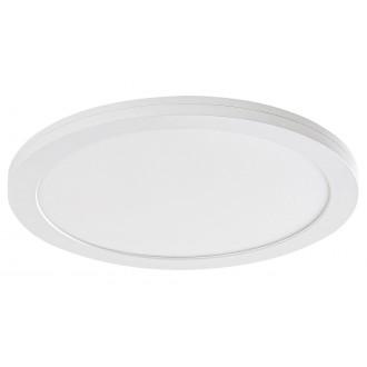 RABALUX 1489 | Sonnet Rabalux stropné, zabudovateľné, nadstaviteľné LED panel kruhový Ø225mm 1x LED 1500lm 4000K biela