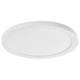 RABALUX 1491 | Sonnet Rabalux stropné, zabudovateľné, nadstaviteľné LED panel kruhový pohybový senzor Ø225mm 1x LED 1500lm 4000K biela