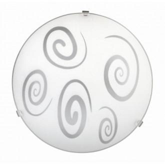 RABALUX 1822 | Spiral Rabalux stenové, stropné svietidlo 1x E27 biela, priesvitná