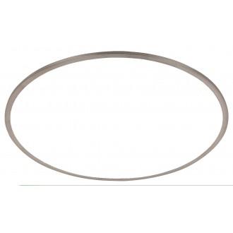 RABALUX 2179 | Nadir Rabalux stropné svietidlo kruhový impulzový prepínač regulovateľná intenzita svetla 1x LED 6300lm 3000K satén chróm, biela