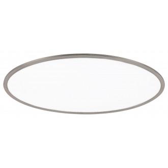 RABALUX 2180 | Taleb Rabalux stropné svietidlo impulzový prepínač regulovateľná intenzita svetla 1x LED 4200lm 3000K satén chróm, biela