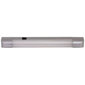 RABALUX 2306 | Band Rabalux osvetlenie pultu svietidlo prepínač 1x G13 / T8 630lm 2700K strieborný