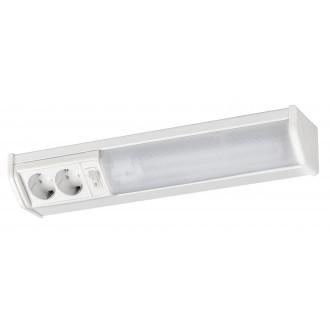 RABALUX 2321 | Bath Rabalux stenové svietidlo prepínač zásuvkové zospodu 1x G23 / T1U 840lm 2700K biela