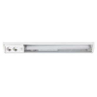 RABALUX 2322 | Bath Rabalux stenové svietidlo prepínač zásuvkové zospodu 1x G13 / T8 950lm 2700K biela