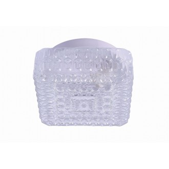 RABALUX 2436 | GraceR Rabalux stenové, stropné svietidlo 1x E27 biela, priesvitná