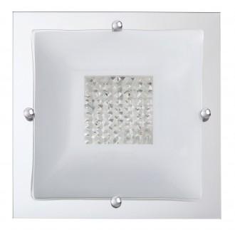 RABALUX 2468 | Deborah Rabalux stropné svietidlo 2x E27 chróm, biela, priesvitné