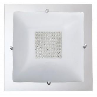 RABALUX 2469 | Deborah Rabalux stropné svietidlo 3x E27 chróm, biela, priesvitné