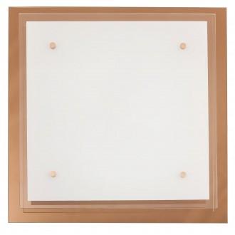 RABALUX 2477 | Cindy Rabalux stenové, stropné svietidlo 3x E27 ružové zlato, biela, priesvitné