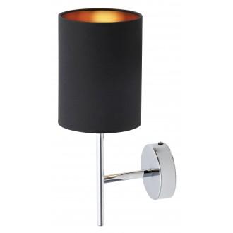 RABALUX 2525 | Monica Rabalux rameno stenové svietidlo 1x E14 chróm, čierna, zlatý