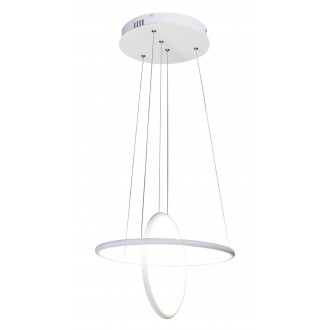 RABALUX 2544 | Donatella Rabalux visiace svietidlo 1x LED 2300lm 4000K chróm, biela