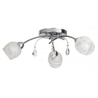 RABALUX 2621 | MelissaR Rabalux stropné svietidlo 3x E14 chróm, biela, priesvitné