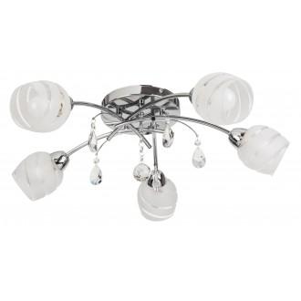 RABALUX 2622 | MelissaR Rabalux stropné svietidlo 5x E14 chróm, biela, priesvitné