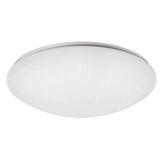 RABALUX 2637 | OllieR Rabalux stropné svietidlo diaľkový ovládač nastaviteľná farebná teplota 1x LED 5900lm 2700 <-> 6500K biela, lesklé