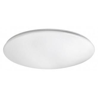 RABALUX 2639 | OllieR Rabalux stropné svietidlo diaľkový ovládač nastaviteľná farebná teplota 1x LED 5900lm 2700 <-> 6500K biela, lesklé