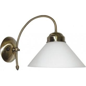 RABALUX 2701 | Marian Rabalux rameno stenové svietidlo 1x E27 bronzová, biela