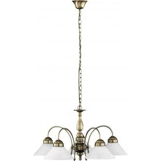 RABALUX 2705 | Marian Rabalux luster svietidlo 5x E27 bronzová, biela
