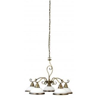 RABALUX 2755 | Elisett Rabalux luster svietidlo 5x E27 bronzová, biela