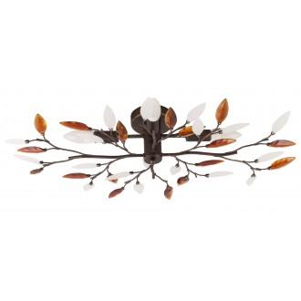 RABALUX 2849 | Lilian Rabalux stropné svietidlo 4x E14 antické hnedé, opál, jantárové