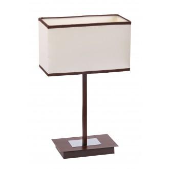 RABALUX 2896 | Kubu Rabalux stolové svietidlo 44,5cm prepínač na vedení 1x E14 béž, hnedá, wenge