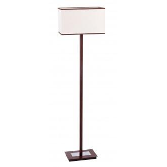 RABALUX 2900 | Kubu Rabalux stojaté svietidlo 139,5cm prepínač na vedení 1x E27 béž, hnedá, wenge